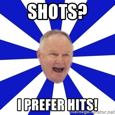 Crafty Randy - shots? i prefer hits!
