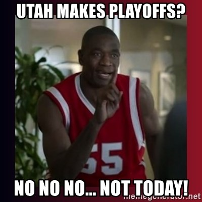 Dikembe Mutombo - UTAH MAkes Playoffs? No NO NO... NOT TODAY!