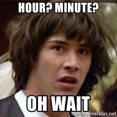 Conspiracy Keanu - hour? minute? oh wait