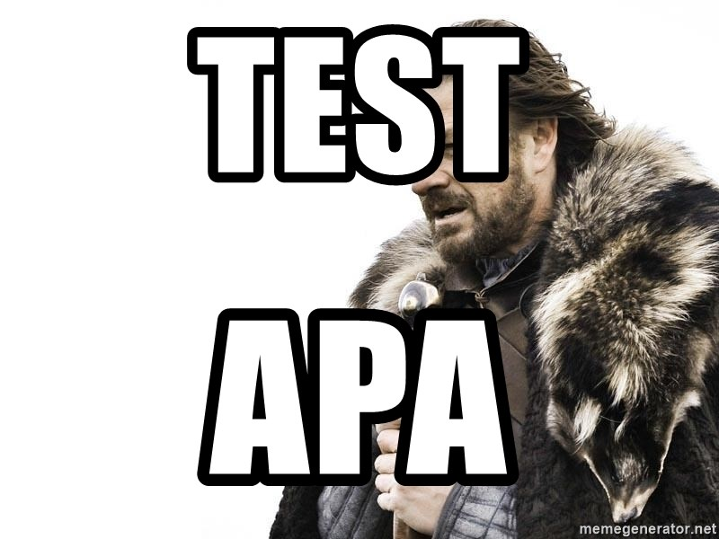 Winter is Coming - test apa