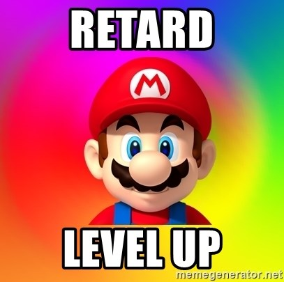 Mario Says - RETARD LEVEL UP