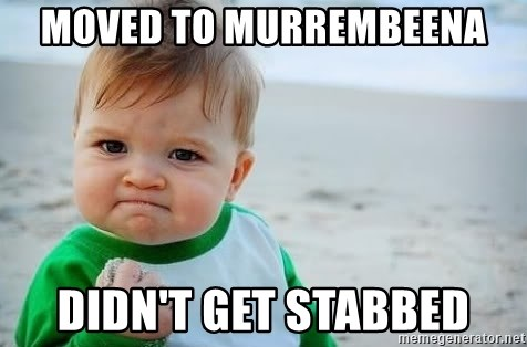 fist pump baby - Moved to Murrembeena Didn't get stabbed