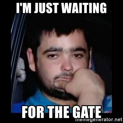 just waiting for a mate - I'm just waiting for the gate