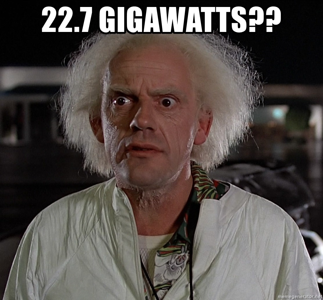 Back To The Future Doctor - 22.7 GIGAWATTS??