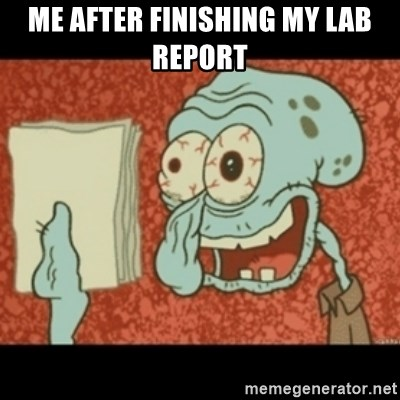 Squidward Tired - me after finishing my lab report