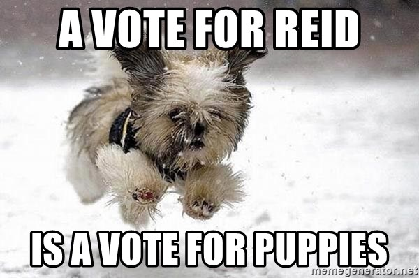 Cute Dog - A Vote For REid is a vote for puppies