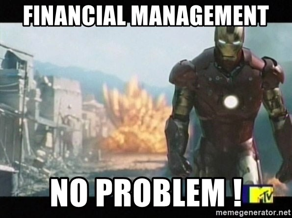 Iron man walks away - Financial management No problem !