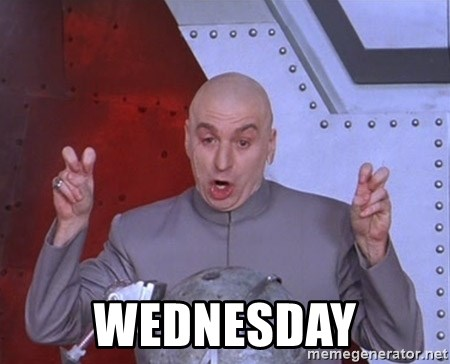 Dr. Evil Air Quotes -  WEDNESDAY