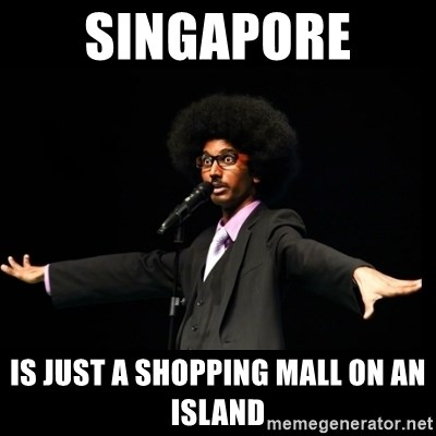 AFRO Knows - sINGAPORE  IS JUST A SHOPPING MALL ON AN ISLAND