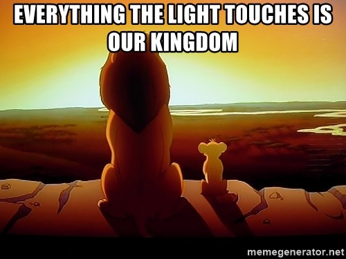 simba mufasa - Everything the light touches is our kingdom
