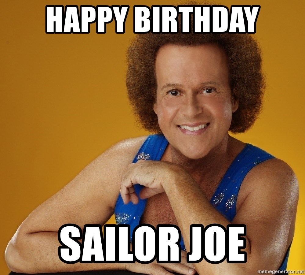 Gay Richard Simmons - happy birthday Sailor Joe