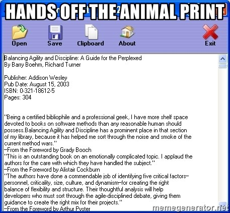 Text - Hands off the animal print