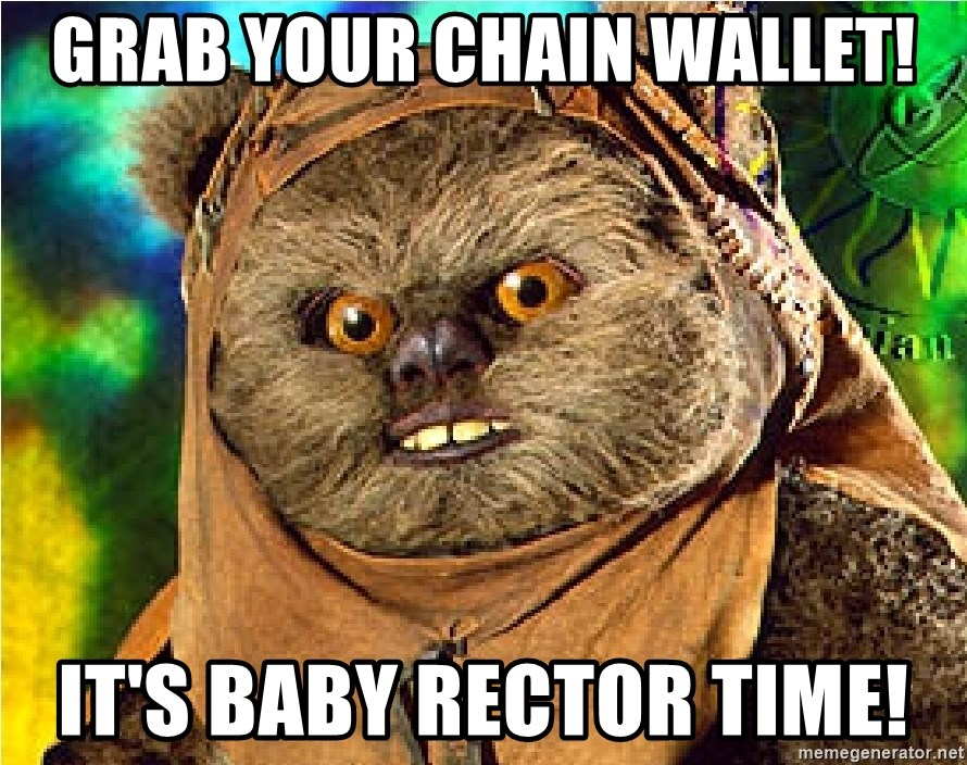 Rape Ewok - Grab your chain wallet! It's baby rector time!