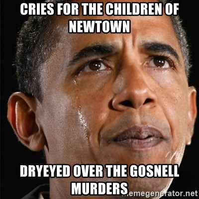Obama Crying - cries for the children of newtown dryeyed over the gosnell murders
