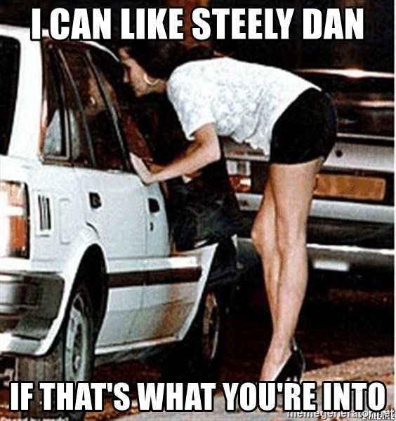 Karma prostitute  - I can like steely dan if that's what you're into