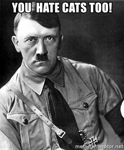 Hitler - You  Hate cats too!