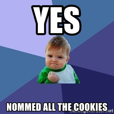 Success Kid - yES nommed all the cookies