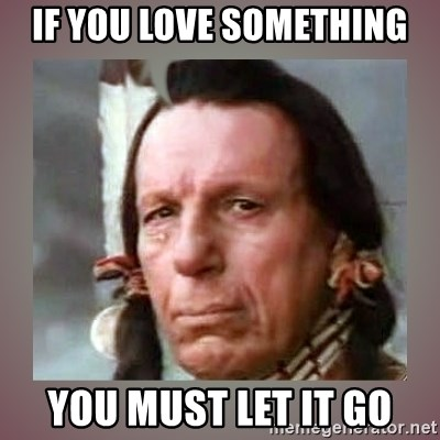 Crying Indian - If you love something you must let it go
