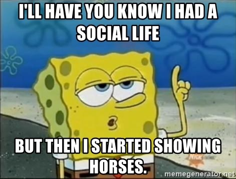 Spongebob - I'll have you know I had a social life But then I started showing horses.