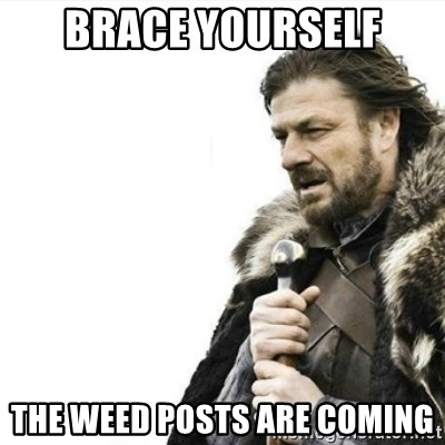 Prepare yourself - BRACE YOURSELF THE WEED Posts are coming