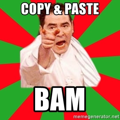 Emeril - COPY & PASTE BAM
