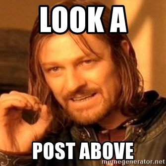One Does Not Simply - look a  post above