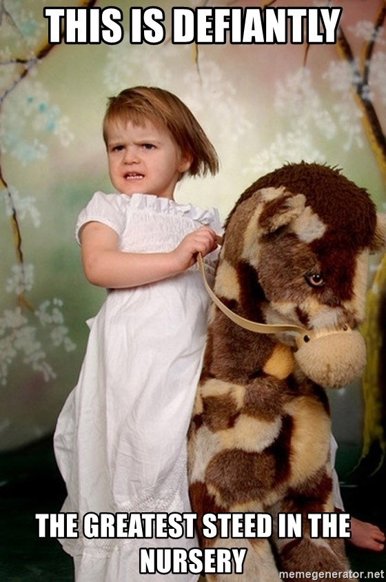 Rockinghorse Warrior Girl - This is defiantly The greatest steed in the nursery