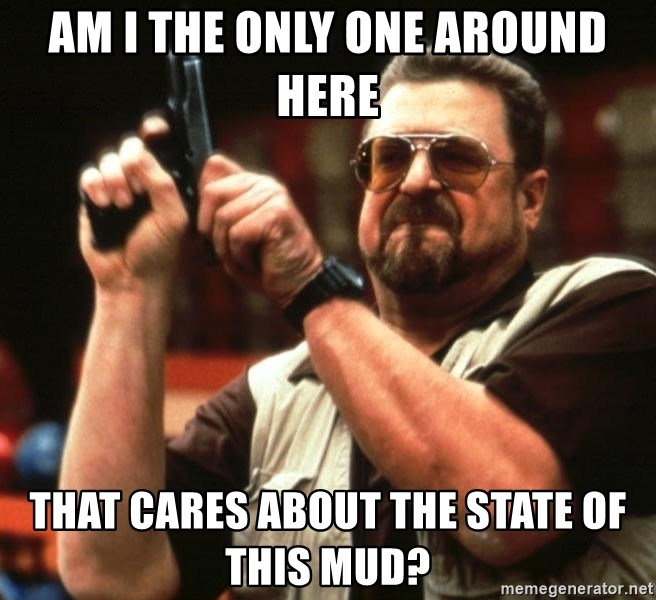 Big Lebowski - AM I the only one around here that cares about the state of this mud?