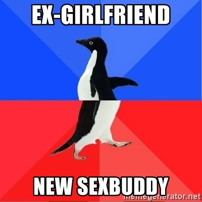 Socially Awkward to Awesome Penguin - ex-girlfriend new sexbuddy