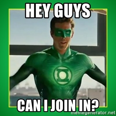 Green Lantern - Hey guys Can I join in?