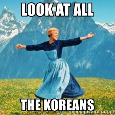 Sound Of Music Lady - LOOK AT ALL THE KOREANS