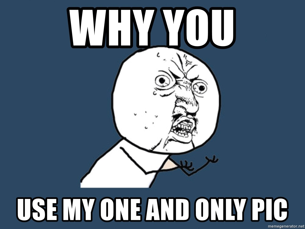 Y U No - WHY YOU USE MY ONE AND ONLY PIC
