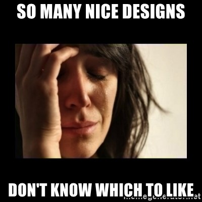 todays problem crying woman - SO many nice designs Don't know which to like