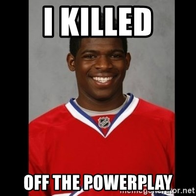 Pk Subban - i Killed OFF THE POWERPLAY