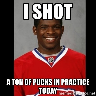 Pk Subban - I SHOT A TON OF PUCKS IN PRACTICE TODAY