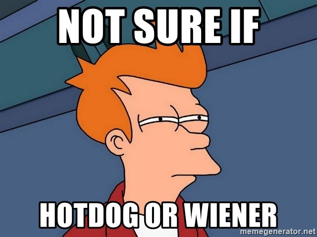 Futurama Fry - Not sure if Hotdog or wiener
