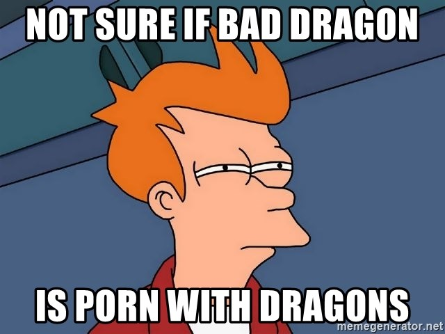 Futurama Fry - not sure if bad dragon is porn with dragons