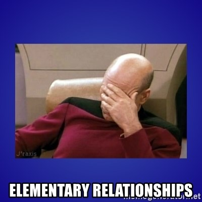 Picard facepalm  -  Elementary relationships