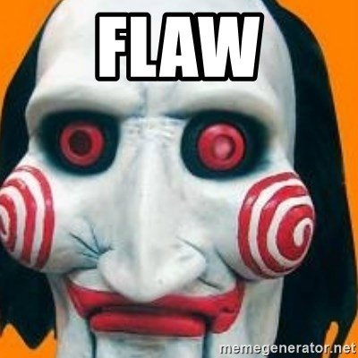 Jigsaw from saw evil - Flaw