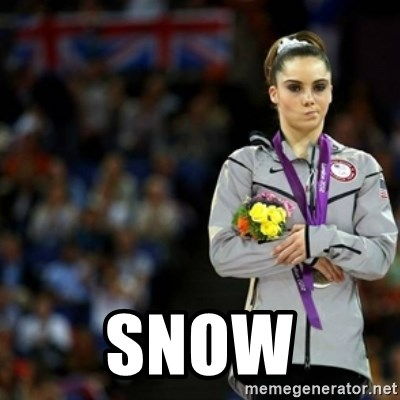 unimpressed McKayla Maroney 2 -  sNOW