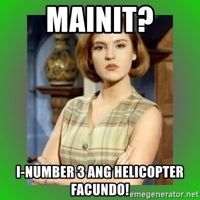 Donya Angelica - mainit? i-number 3 ang helicopter facundo!
