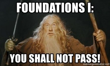 Gandalf - Foundations I: you shall not pass!