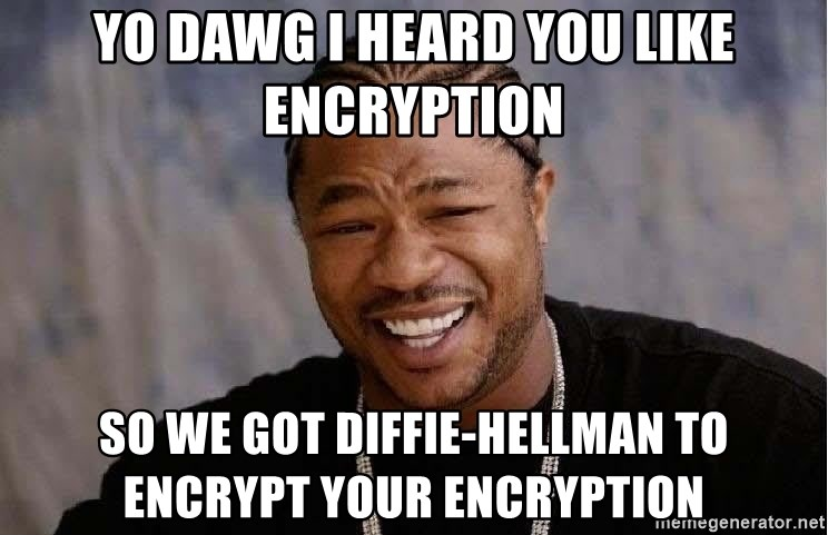 Yo Dawg - YO dawg I heard you Like Encryption So We got Diffie-Hellman to encrypt your Encryption