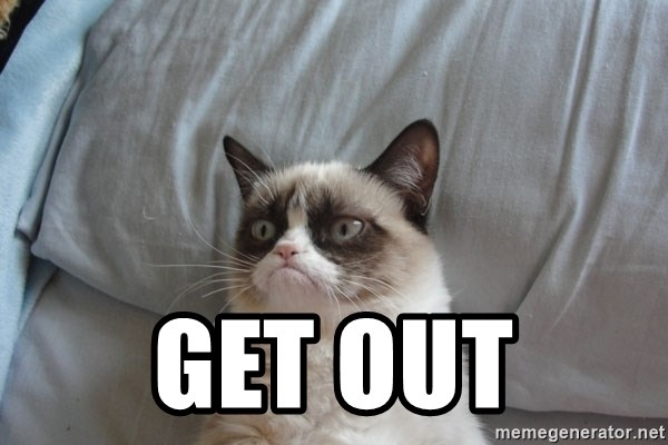 Grumpy cat good -  Get out