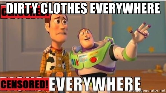 Toy Story Everywhere - Dirty clothes everywhere