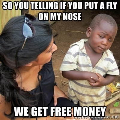 So You're Telling me - So you telling if you put a fly on my nose  We get free money