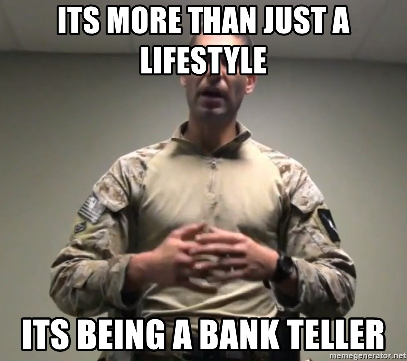 GMRPLS - Its more than just a lifestyle its being a bank teller