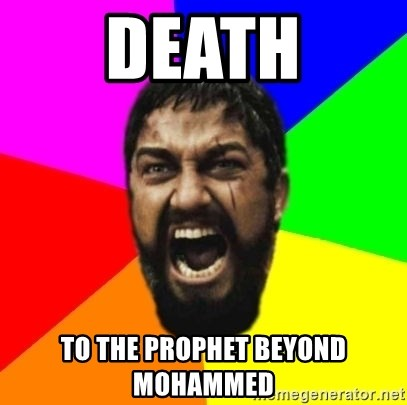 sparta - Death to the prophet beyond mohammed