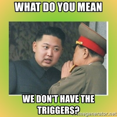 kim joung - what do you mean we don't have the triggers?