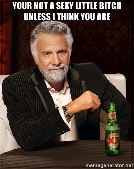 The Most Interesting Man In The World - Your not a sexy little bitch unless i Think you are